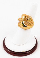Yellow Gold Ring 21K, YGRING0077, Weight: 7.2g
