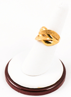 Yellow Gold Ring 21K, YGRING0081, Weight: 3.4g