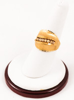 Yellow Gold Ring 21K, YGRING0084, Weight: 6.3g