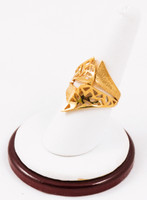 Yellow Gold Ring 21K, YGRING0086, Weight: 8.6g