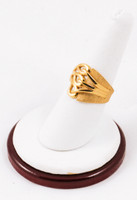 Yellow Gold Ring 21K, YGRING0095, Weight: 5.8g