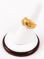 Yellow Gold Ring 21K, YGRING0096, Weight: 0g
