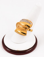 Yellow Gold Ring 21K, YGRING0101, Weight: 8.5g