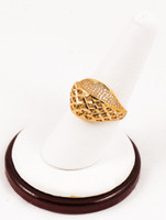 Yellow Gold Ring 21K, YGRING0105, Weight: 4.6g
