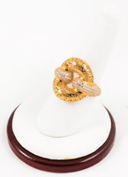 Yellow Gold Ring 21K, YGRING0109, Weight: 5.7g