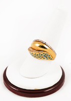 Yellow Gold Ring 21K, YGRING0112, Weight: 0g