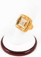 Yellow Gold Ring 21K, YGRING0118, Weight: 9.4g