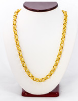 YELLOW GOLD CHAINS, 21K-YGCHAIN001, Size:Large, Weight: 59.5g