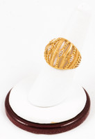 Yellow Gold Ring 21K, YGRING0124, Weight: 6.5g