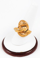 Yellow Gold Ring 21K, YGRING0125, Weight: 9.5g