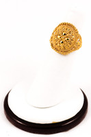 Yellow Gold Ring 21K, YGRING0147, Weight: 4.3g