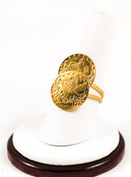 Yellow Gold Ring 21K, YGRING0163, Weight: 5.4g