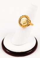 Yellow Gold Ring 21K, YGRING0165, Weight: 7.1g