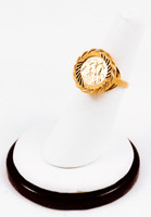 Yellow Gold Ring 21K, YGRING0167, Weight: 6.3g