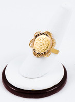 Yellow Gold Ring 21K, YGRING0171, Weight: 5.8g