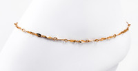 YELLOW GOLD ANKLETS, 21K, YGANKL001, Weight: 3.2g