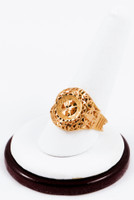 Yellow Gold Ring 21K, YGRING0180, Weight: 4.4g