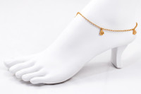 YELLOW GOLD ANKLETS, 21K, YGANKL002, Weight: 6g