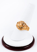 Yellow Gold Ring 21K, YGRING0186, Weight: 3.6g
