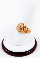 Yellow Gold Ring 21K, YGRING0187, Weight: 3.5g