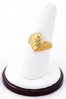 Yellow Gold Ring 21K, YGRING0189, Weight: 0g