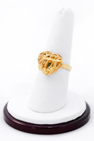 Yellow Gold Ring 21K, YGRING0195, Weight: 4.1g