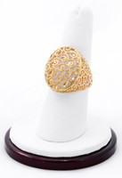 Yellow Gold Ring 21K, YGRING0199, Weight: 5.8g