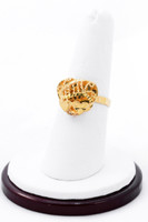 Yellow Gold Ring 21K, YGRING0201, Weight: 4.6g