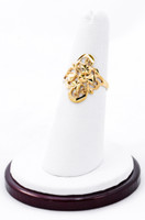 Yellow Gold Ring 21K, YGRING0204, Weight: 2.6g
