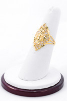 Yellow Gold Ring 21K, YGRING0212, Weight: 2.7g