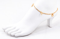 YELLOW GOLD ANKLETS, 21K, YGANKL005, Weight: 3.3g