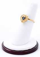 Yellow Gold Ring 21K, YGRING0213, Weight: 2.8g