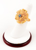 Yellow Gold Ring 21K, YGRING0219, Weight: 7.1g