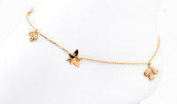 YELLOW GOLD ANKLETS, 21K, YGANKL006, Weight: 2.7g