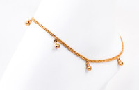 YELLOW GOLD ANKLETS, 21K, YGANKL007, Weight: 5.9g