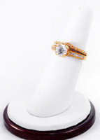 Yellow Gold Ring 21K , YGRING0239, Weight: 7.4g