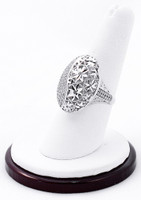 White Gold Ring, WGRING0007, Weight: 4.4