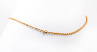 YELLOW GOLD ANKLETS, 21K, YGANKL010, Weight: 3.9g