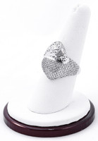 White Gold Ring, WGRING0013, Weight: 4.4