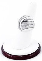 White Gold Ring, WGRING0034, Weight: 5.1