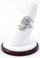White Gold Ring, WGRING0035, Weight: 0