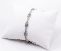 "WHITE GOLD BRACELET, WGBRA001, 18K, Size:7.5"", Weight: 9.8g"