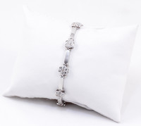 "WHITE GOLD BRACELET, WGBRA002, 18K, Size:7.5"", Weight: 0g"