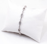 "WHITE GOLD BRACELET, WGBRA003, 18K, Size:7.5"", Weight: 11.5g"