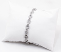 "WHITE GOLD BRACELET, WGBRA005, 18K, Size:7.5"", Weight: 12.5g"