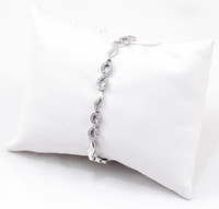 "WHITE GOLD BRACELET, WGBRA006, 18K, Size:7.5"", Weight: 10g"