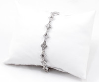 "WHITE GOLD BRACELET, WGBRA007, 18K, Size:7.5"", Weight: 12g"