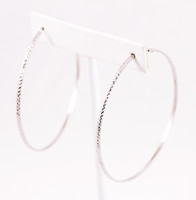 WHITE GOLD EARRING, WGEARRING005, 18K, Weight: 3.7g