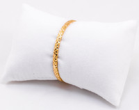YELLOW GOLD BABY BANGLE, YGBABY003, 21K, Size: Baby, Weight: 5.5g