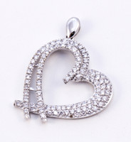 WHITE GOLD PENDANT, WGPEND005, 18K, Weight: 8.14g